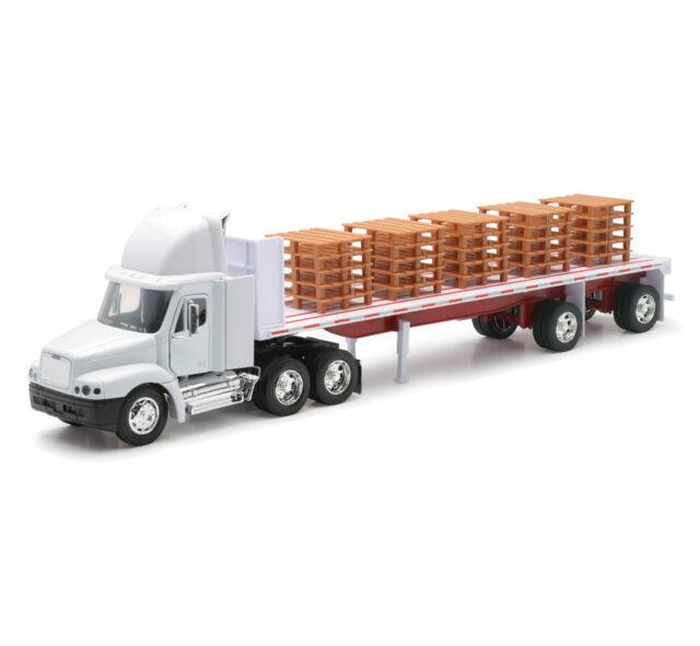 Freightliner Century Class Tractor Trailer Flatbed Pallets Semi Diecast 1 32 For Sale Online Ebay