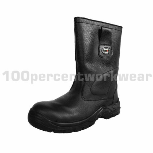Metal Free Waterproof Leather Safety Rigger Work Boots Security Scanner Aviation