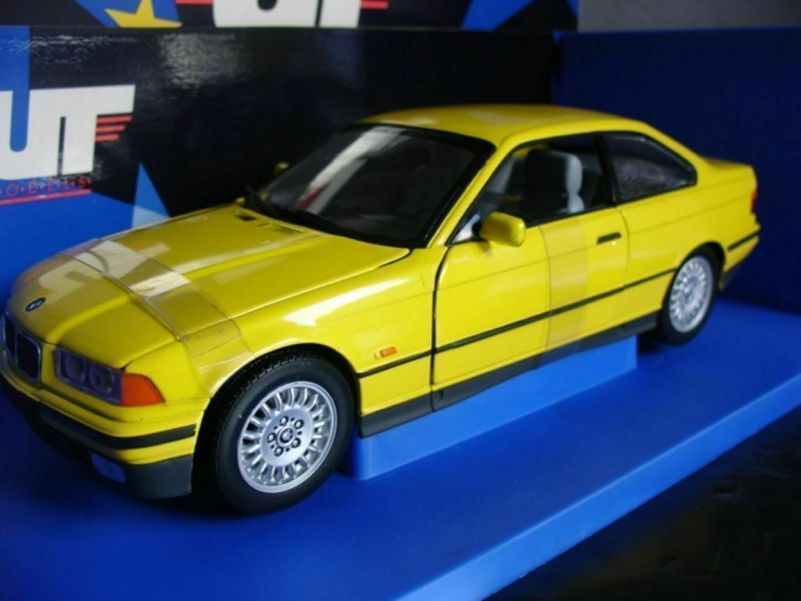 WOW EXTREMELY RARE BMW E36 328i Coupe 1994 Yellow 1 18 Minichamps  UT-E46 M3 GTR