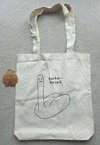DAVID SHRIGLEY  Swan Thing   SWEDISH ARTIST DESIGNED TOTE BAG