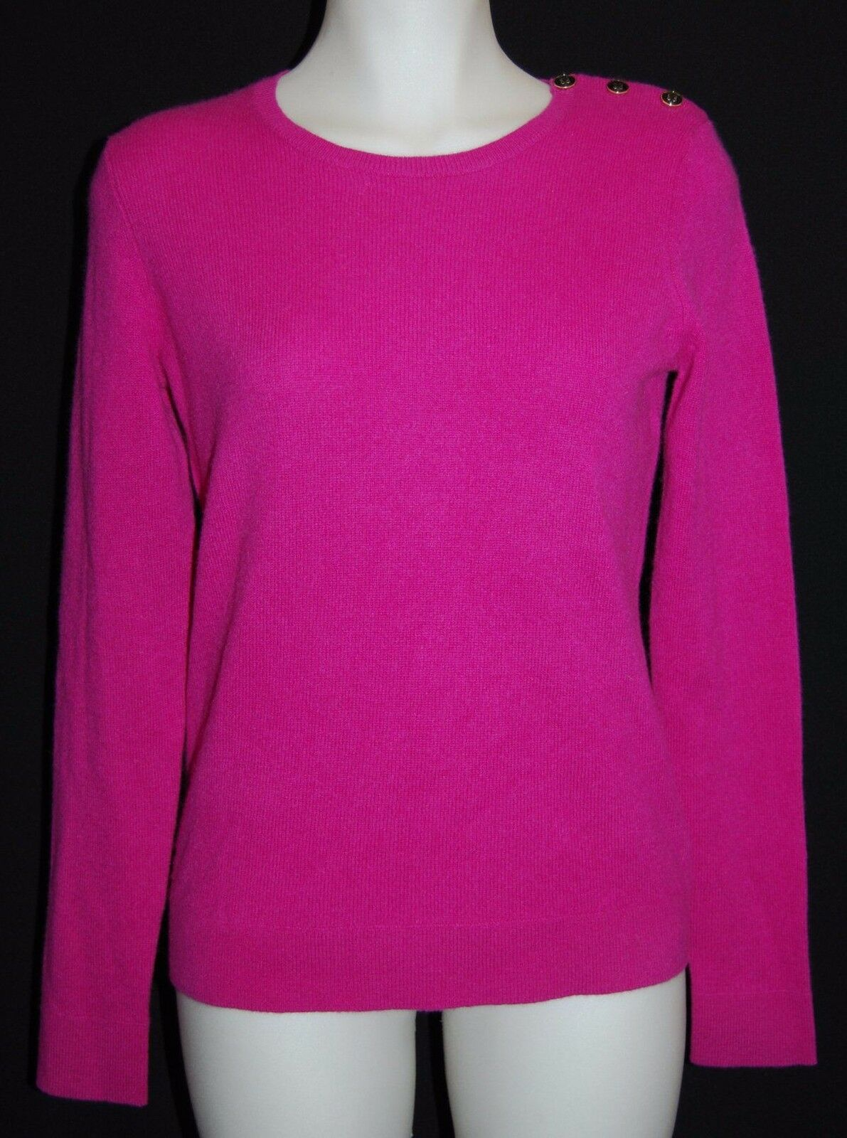 C by BLOOMINGDALE'S 100% Cashmere Tulip Pink Sweater L L L  165 NWT f07591