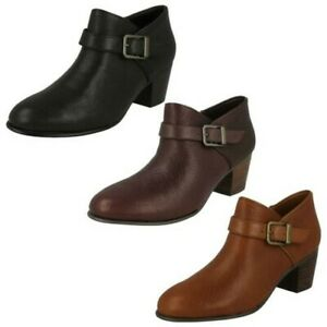 f547d892734 Image is loading Ladies-Clarks-Buckle-Detailed-Ankle-Boots-Maypearl-Milla