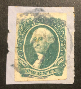 TDStamps: US Confederate States CSA Stamps Scott#13 Used Lightly Crease On-Piece