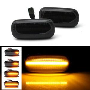2x-LED-Dynamique-Side-Clignotant-Repetiteur-pour-Audi-A4-S4-B6-B7-A6-C5-TT-Noir