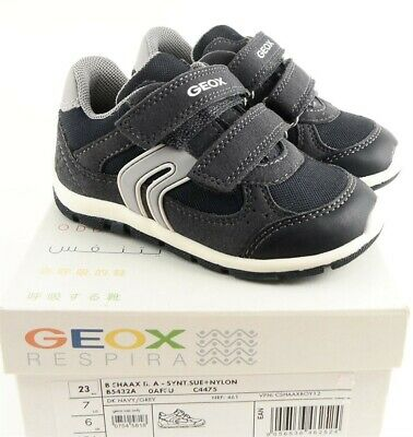 Details about Geox Respira Toddler Boys Sneakers Shoes Blue Velcro Size US 8.5