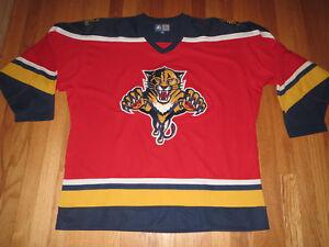 1a5baa04a47 Vtg CCM Starter Brand Florida Panthers NHL Hockey Jersey Adult Large ...