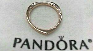 f7f2e9b0ff2 Image is loading PANDORA-ROSE-SIGNATURE-ARCS-OF-LOVE-HEART-RING-