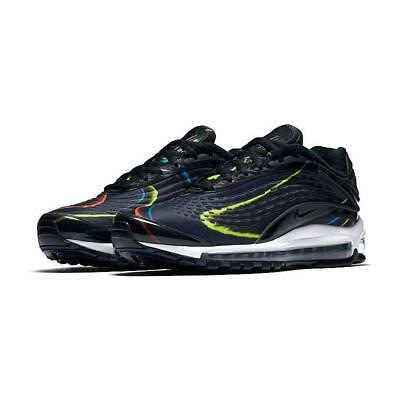 efb207541691 Nike Air Max Deluxe Black Midnight Navy Silver SNEAKERS Shoes Mens ...