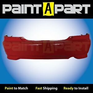 2004-2005-Honda-Civic-Coupe-Rear-Bumper-Painted-R513-Rallye-Red