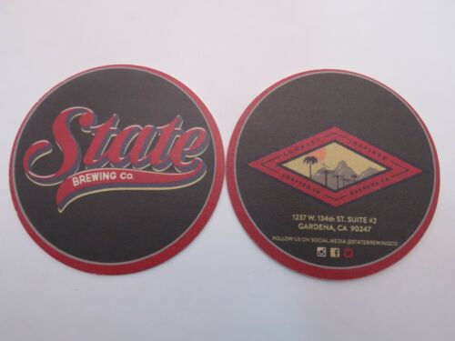 Beer Collectible Coaster CALIFORNIA STATE Brewing Company ~ Crafted in Gardena