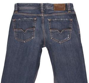 DIESEL-LARKEE-008RQ-Mens-Straight-Regular-Fit-Distressed-Jeans-W31-L34-Classic