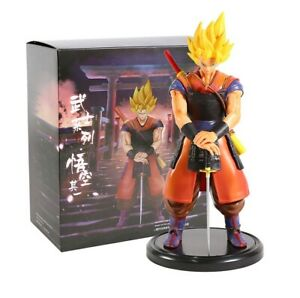 DRAGON-BALL-Z-Figura-Son-Goku-Super-Saiyan-Samurai-Anime-figure-22cm