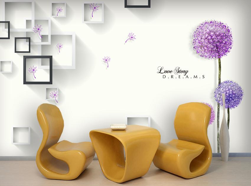 3D Romantischer Löwenzahn 754 Tapete Wandgemälde Tapete Tapeten Bild Familie DE