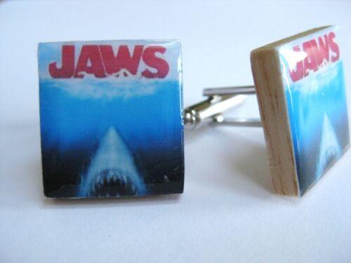 Jaws Cufflinks Steven Spielberg Horror retro Movie Cufflinks Unique Handmade