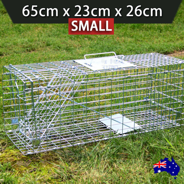 TRAP Humane Possum Feral Cat Rabbit Bird Animal Dog Hare Fox Cage Live Catch