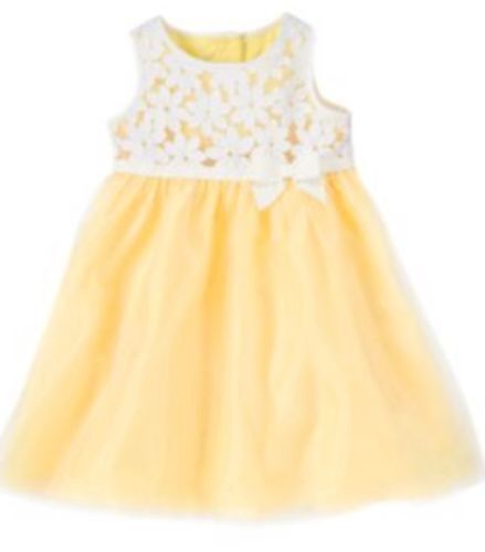 Gymboree Spring Dressy 6-12-18-24 mo 2T 3T 4T Daisy Organza Dress Yellow 2014