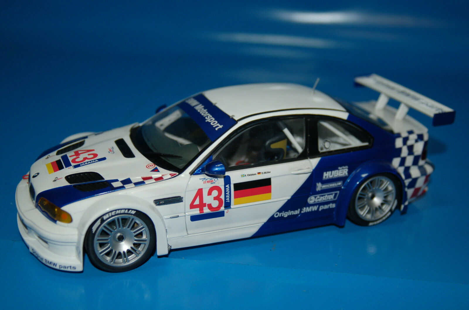 A la venta con descuento del 70%. Coche de colección BMW M3 GTR GTR GTR 2001 · MINICHAMPS · Escala 1 18 Metal · Le Mans  descuentos y mas