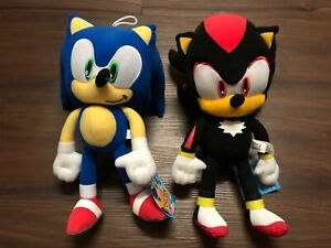 Sega Sonic The Hedgehog Game Knuckles /& Sonic Stuffed Plush Toy Set 12/'
