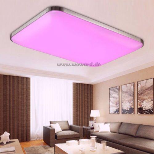 dimmbar LED Deckenlampe 108W Deckenleuchte RGB Farbwechseln Wandlampe 500R