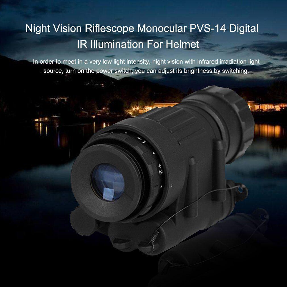Mini Infared Illumination LED Night Vision Monocular Telescope Fr Helmet Hunting