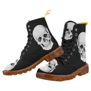 Siniestro cráneo botas De Combate-hecho A Pedido-Punk Gótico,