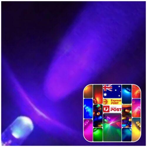 3mm UV Ultra Violet 200pcs Led Light Emitting Diode Purple Clear Round Head 390n