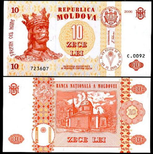 MOLDOVA 10 LEI 2006 P 10 UNC
