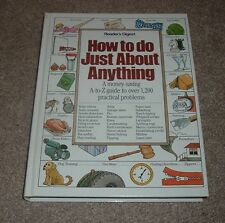1986 HOW TO DO JUST ABOUT ANYTHING Reader's Digest Money Saving Guide hc