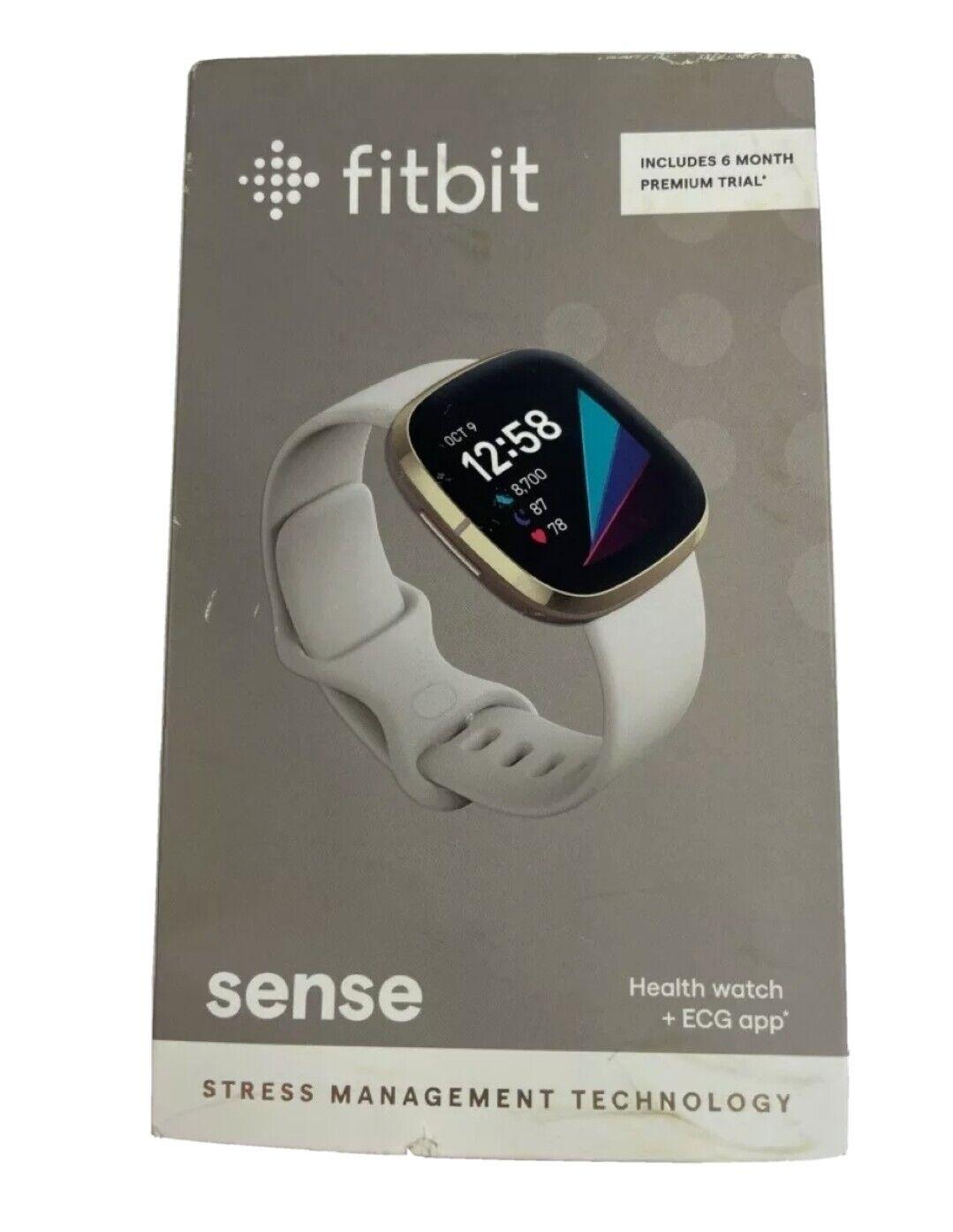 Fitbit Sense Advanced Health & Fitness Tracker Smartwatch - New In Box White