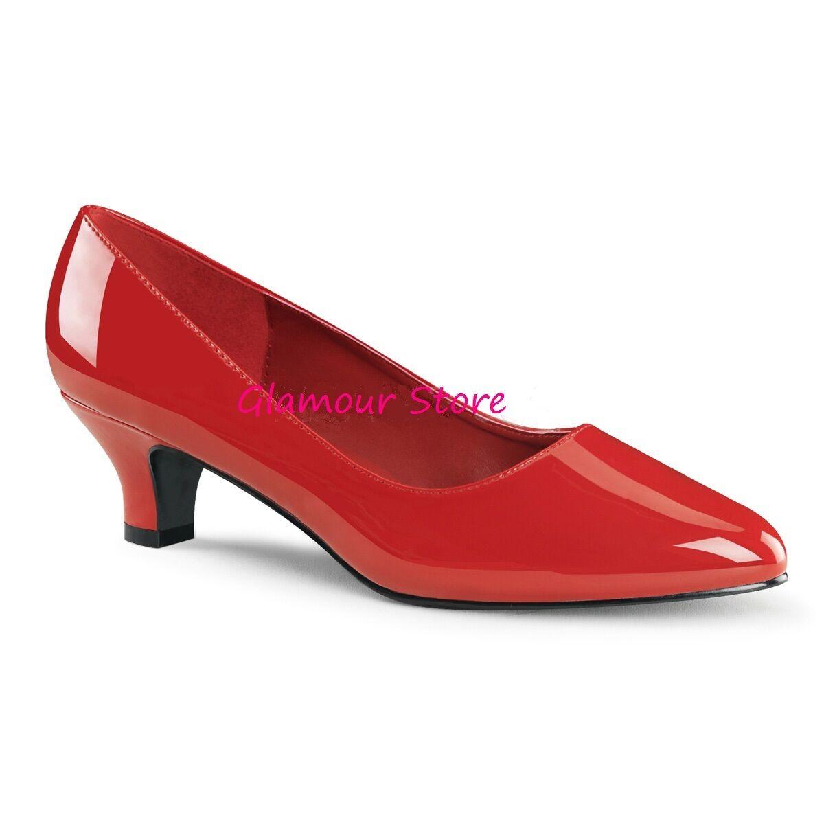 DECOLTE' tacco 5 cm al ROSSO LUCIDO dal 39 al cm 46 scarpe SEXY chic fashion GLAMOUR 8baa31
