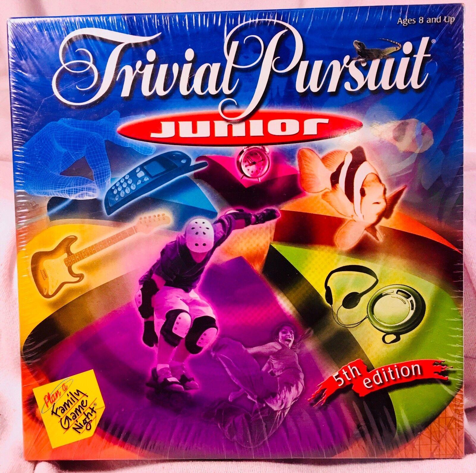 Nib - hasbro 2001 trivial pursuit junior game (5. auflage) - fabrik versiegelt