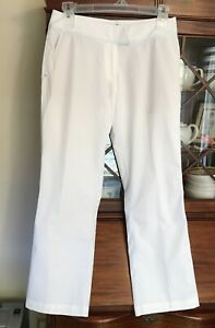 Adidas Climacool Stretch Golf Women's Size 8 White Pants ...