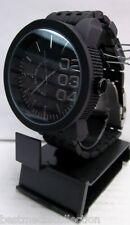 ONYK Men's WATCH Black Metal Band FASHION Big 0205 Black Dial Black Number WATER