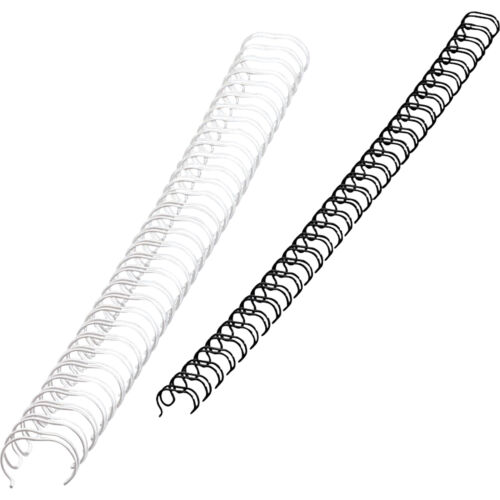 """0.38/"""" Fellowes Wire Binding Combs Black 11/"""" Length 80 Sheets 3//8/"""""""