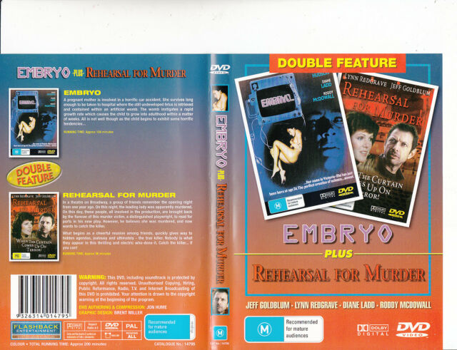 Embryo-1976-Rock Hudson/Rehearsal For Murder-1982-2 Movie-DVD