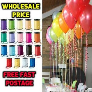 Tie-String-Colour-Balloon-Ribbon-Balloons-Weight-Gift-Wrap-All-Decoration-Fancy