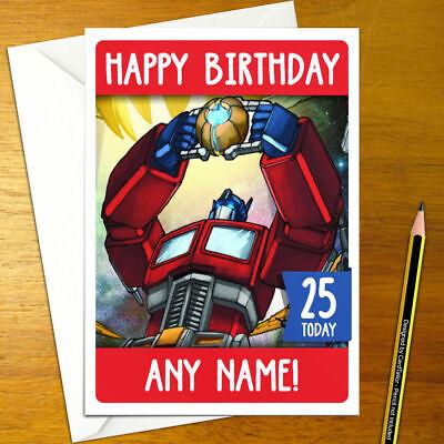 TRANSFORMERS Personalised Birthday Card prime megatron decepticon personalized