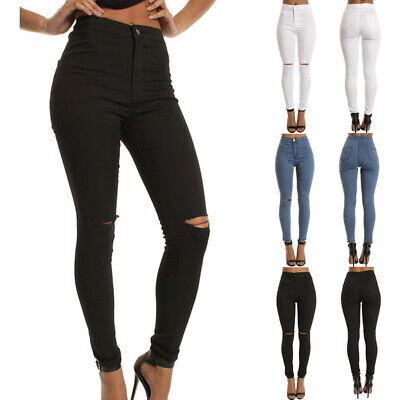 New womens jeans high waist pencil stretch