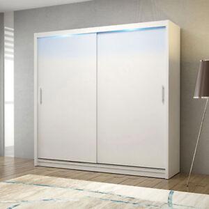 Das Bild Wird Geladen Kleiderschrank Thor II  Schrank Schiebetuer Schwebetuerenschrank LED Beleuchtung