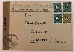 Alliierte-Besetzung-Gemeinschaftsausgaben-MiFr-Zensur-Muenchen-n-Luzern
