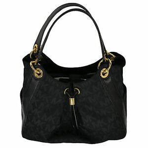 6da0c70e60f3 Image is loading Michael-Kors-Handbag-Purse-Ludlow-Black-Large-Shoulder-