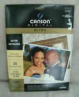 Canson Ultra Satin Digital Imaging Paper For Inkjet Printers 20 Sheets 8.5 X 11