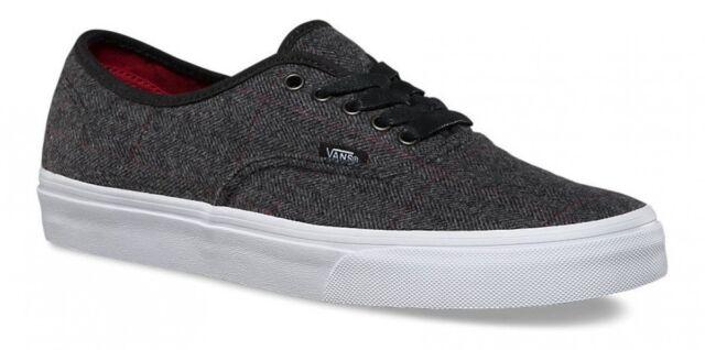 9eed4384ac135d VANS Authentic Tweed Vn0a348a2h3 Black True White Textile Casual Shoes Men  Blacks 7.5