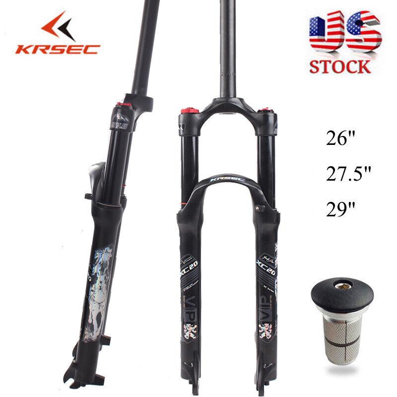 1-1 8  120mm Travel Mountain Bike Suspension Fork 26 27.5 29er Disc brake Forks