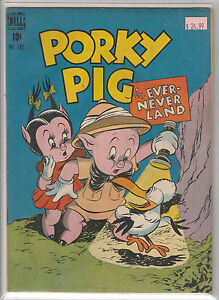 Dell-Four-Color-182-Porky-Pig-in-Ever-Never-Land-VG-F-CR-OW