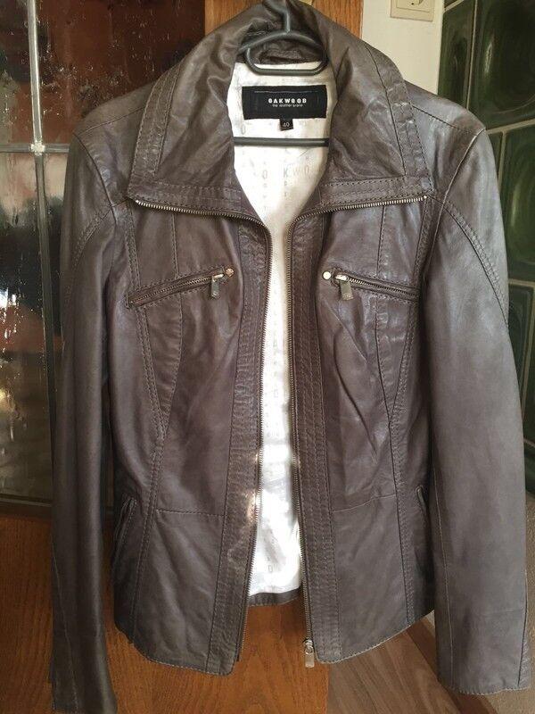 Jacke Damen Lederjacke Damenlederjacke von Oakwood Echtlederjacke  Gr. XL schwar