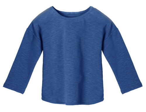 Little Girls Long Sleeve Scoop Neck Basic Solid Tee T-Shirt Cotton Tops Blouse