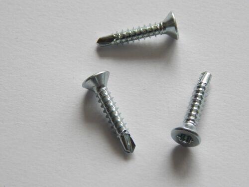 100 Bohrschrauben 3,5 x 16 mm verzinkt Senkkopf Torx T15 DIN 7504 Blechschrauben