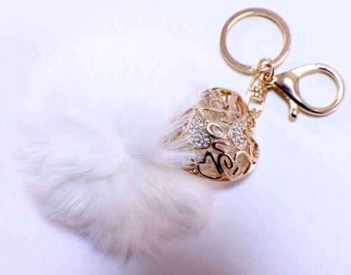 Rhinestone Bling Key Chain Fob Phone Purse Charm Romantic Love Heart