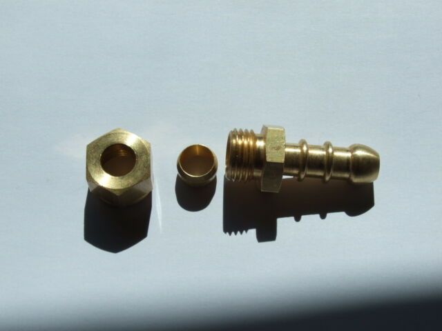 Fulham nozzle 8mm Copper pipe to Rubber hose.